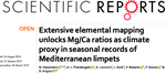 Extensive elemental mapping unlocks Mg/Ca ratios as climate proxy in seasonal records of Mediterranean limpets